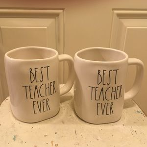 Accessories - 🌈NWT Rae Dunn Set Of Two (2) Best Teacher Ever